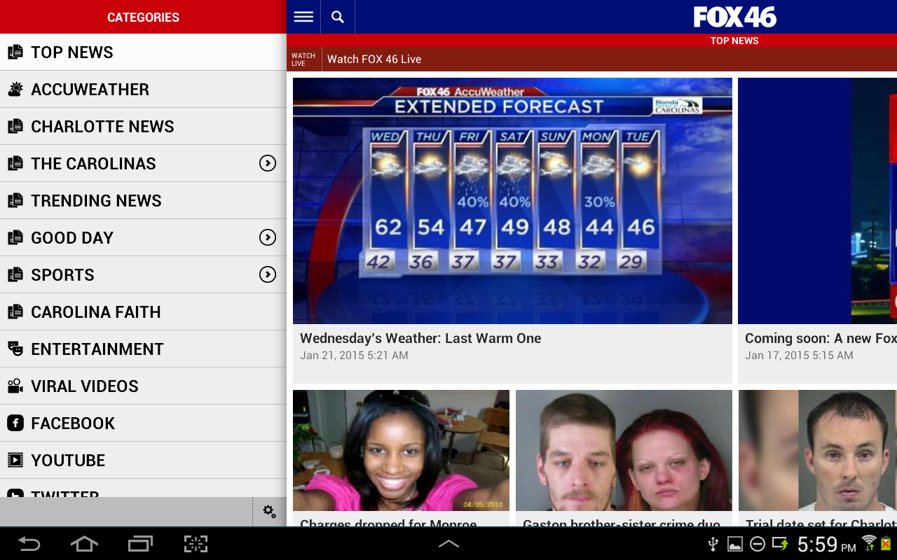 FOX 46 Charlotte- screenshot