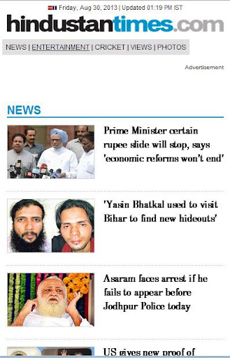 Read India News TV Online Free