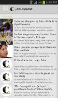 Screenshot of Newspaper El Colombiano