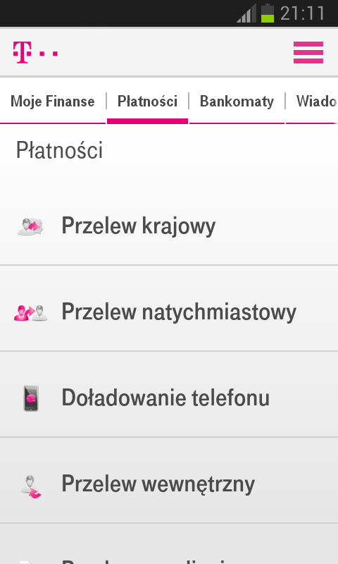 Usługi Bankowe- screenshot