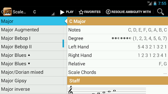 Piano Companion:Chords,Scales - screenshot thumbnail