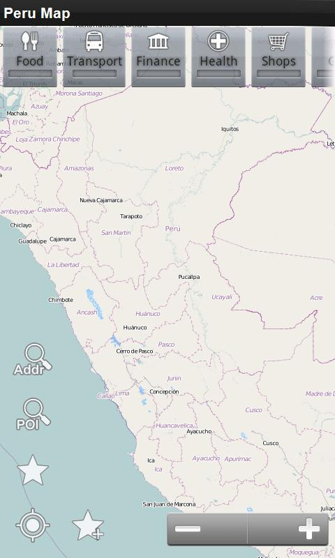 Peru Offline Map - screenshot