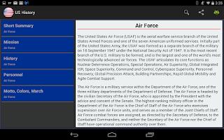 Screenshot of United States History -