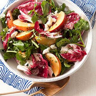 Radicchio, Peach & Feta Salad