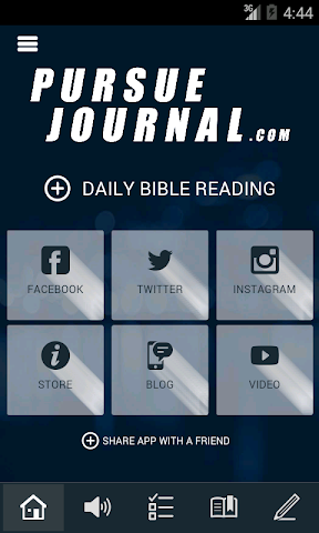 Screenshots for Pursue Journal and Bible