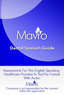 Dental Spanish Guide- screenshot thumbnail