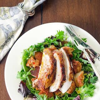 Tandoori Roast Chicken With Masala Bread Salad.