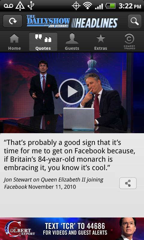 The Daily Show Headlines - screenshot