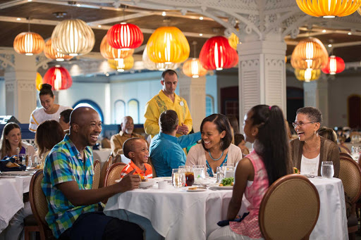 "Disney-Magic-Cariocas - Named after Donald Duck's friend in Disney's ""The Three Caballeros,"" Carioca's serves classic American fare for breakfast and lunch and South American specialties for dinner. You'll find it on deck 3 toward the rear of the ship."