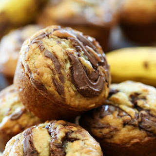 Nutella Banana Oat Muffins Recipe