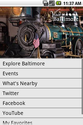 Visit Baltimore - screenshot