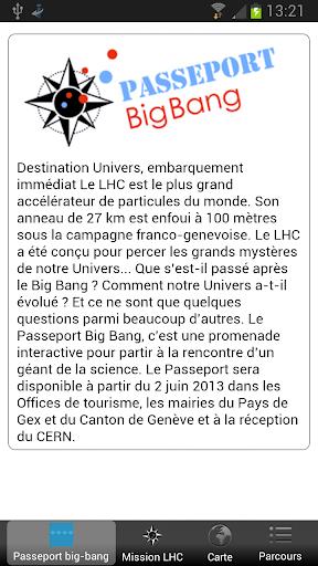 Passeport Big Bang CERN