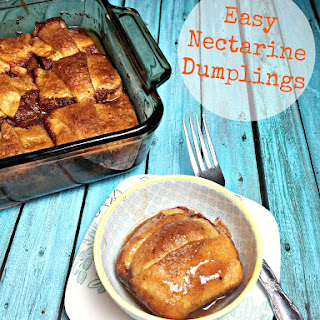 Easy Nectarine Dumplings
