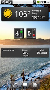 Airplane Mode Widget- screenshot thumbnail