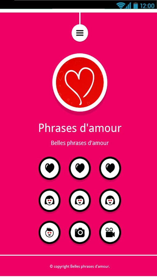 belles phrases d 39 amour android apps on google play. Black Bedroom Furniture Sets. Home Design Ideas