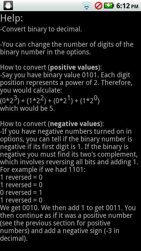Programmer Mental Math- screenshot