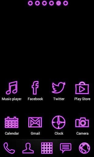 Purple Neon Super Theme