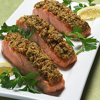 Lemon Scented Crumb-coated Salmon