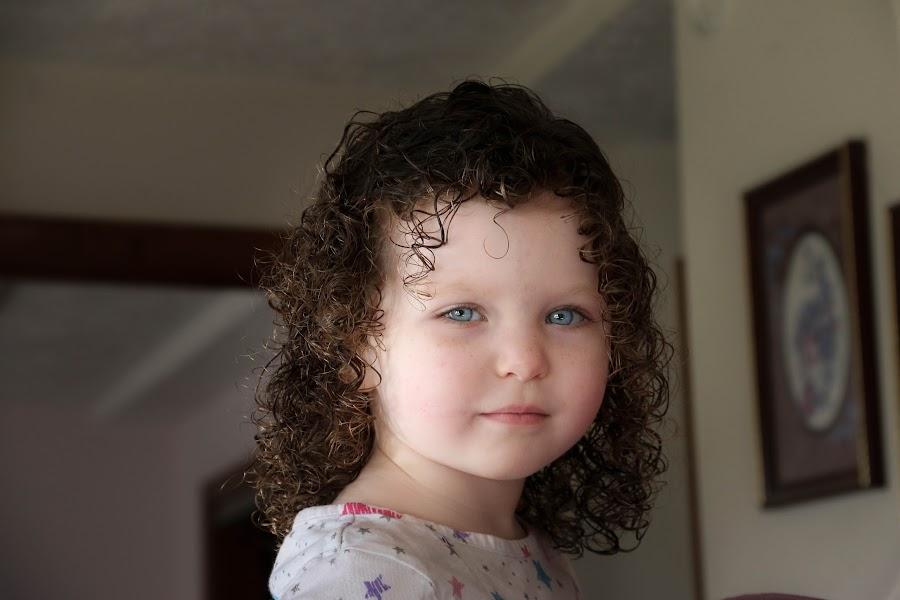 Emily by Jared Hinkle - Babies & Children Child Portraits ( child, blue, white, dark, eyes )