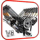 V8 Engine 3D Live Wallpaper