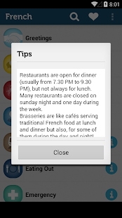 Learn French Phrasebook Pro - screenshot thumbnail