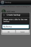 Screenshot of Dell™ Backup & Restore