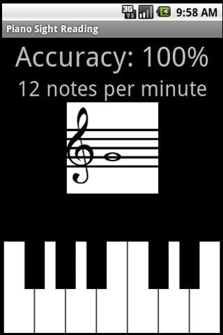 Piano Sight Reading- screenshot