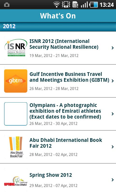 Abu Dhabi National Exhibitions - screenshot