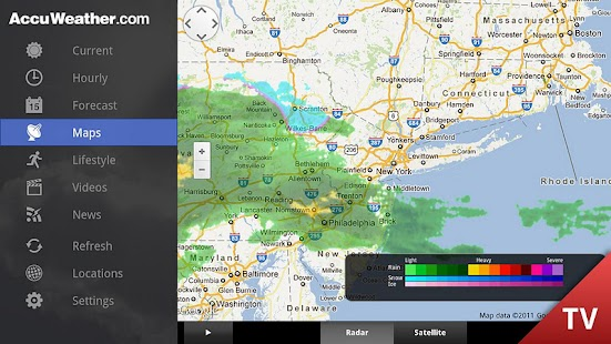 AccuWeather for Google TV- screenshot thumbnail
