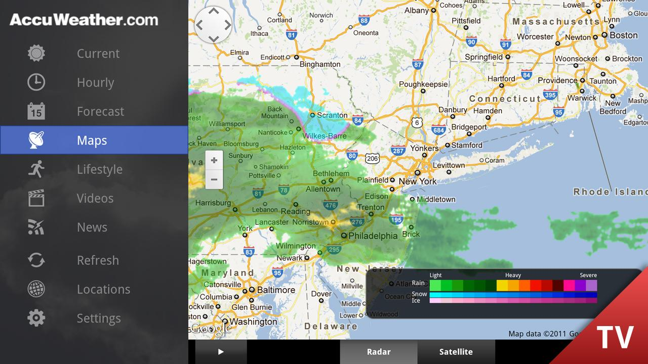 AccuWeather for Google TV - screenshot