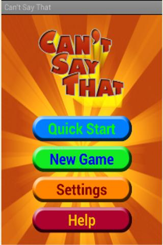 Can't Say That (Free) - screenshot