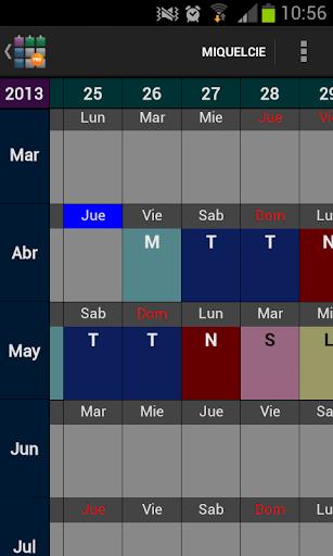 SaTurnos Pro Calendar
