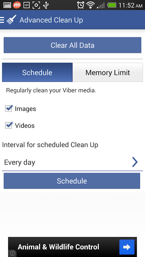 Cleaner for Viber - screenshot
