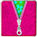 ★Pink Fur Zipper Lock Screen★ icon