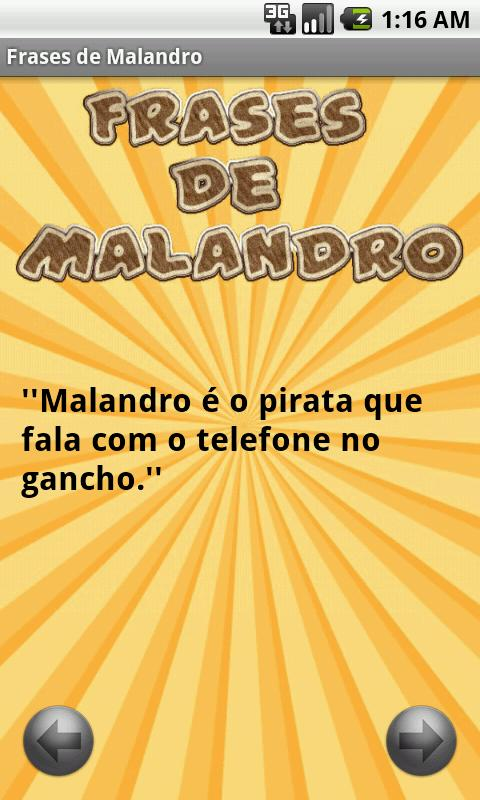 Frases de Malandro - screenshot