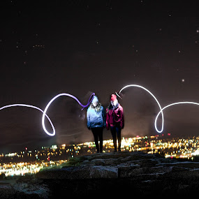 by Michelle Kramer - Abstract Light Painting (  )