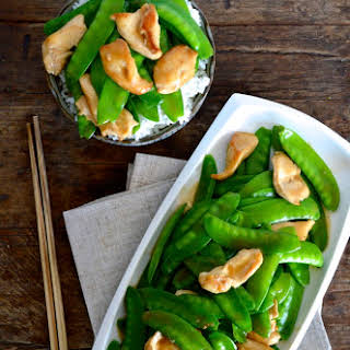 Chicken Snow Peas Stir-fry.