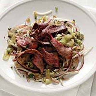 Spicy Steak Salad with Mint.