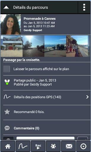 Parcours GPS Live Social Photo