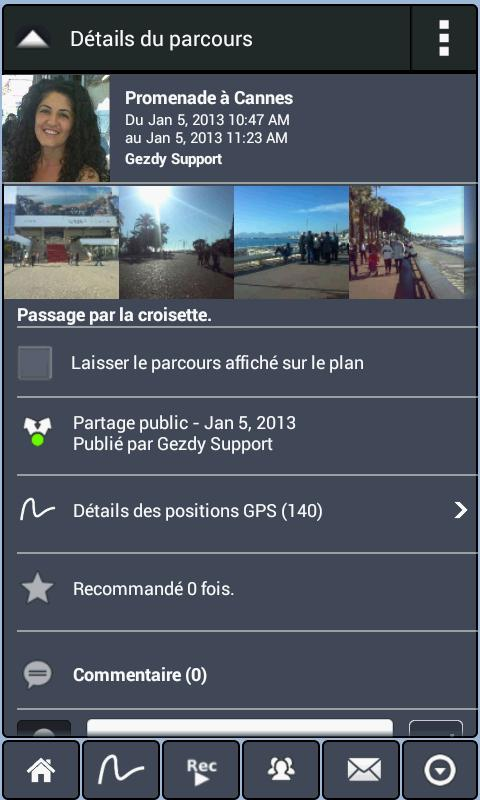 Parcours GPS Live Social Photo - screenshot