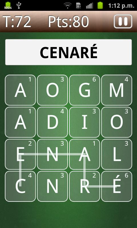eñe Spanish Word Game - screenshot