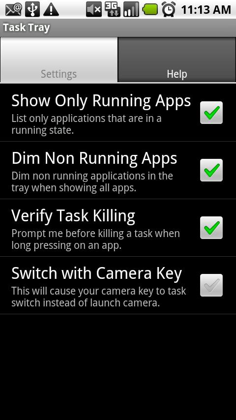 Task Tray - Beta - screenshot