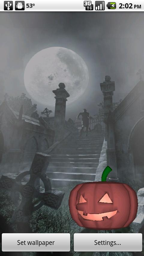 Halloween Live Wallpaper 3D- screenshot