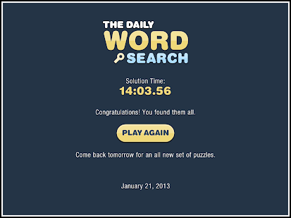 Daily Word Search- screenshot thumbnail
