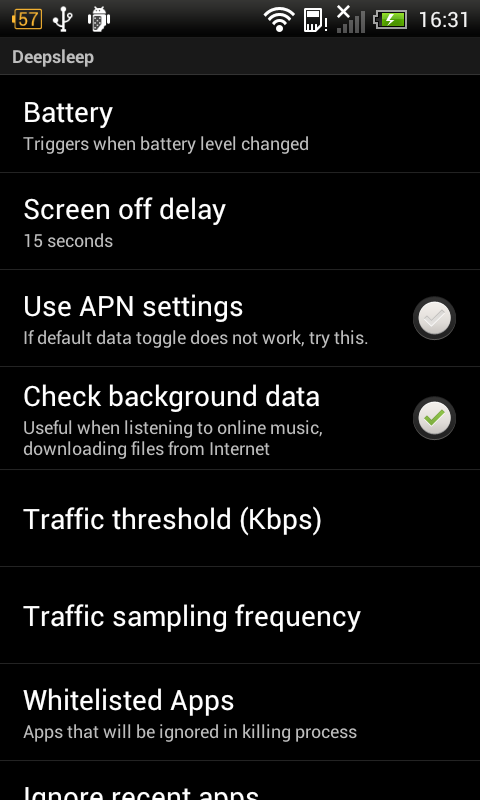 Deep Sleep Battery Saver Pro - screenshot
