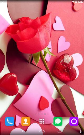 玩免費個人化APP|下載Valentines Live Wallpaper app不用錢|硬是要APP
