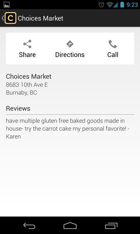 Celiacfeed - screenshot