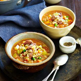 Lamb, Barley And Vegetable Soup.