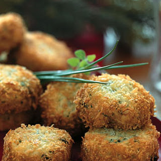 Fontina Risotto Cakes with Fresh Chives