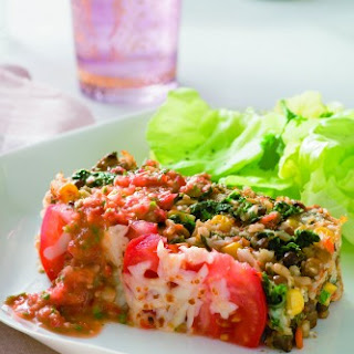 """Vegetable """"Meatloaf"""" with Checca Sauce."""